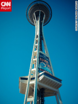 The Seattle skyline's most iconic feature is the Space Needle, built in 1962. 