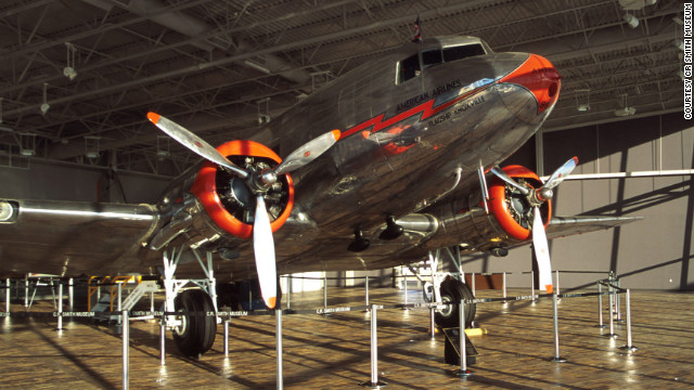American Airlines, one of the airliner's first operators, features an immaculately restored DC-3 at its museum near the Dallas-Fort Worth airport in Texas.