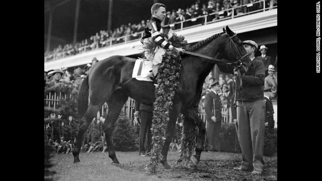War Admiral took the Triple Crown in 1937. He won 21 of his 26 career starts.