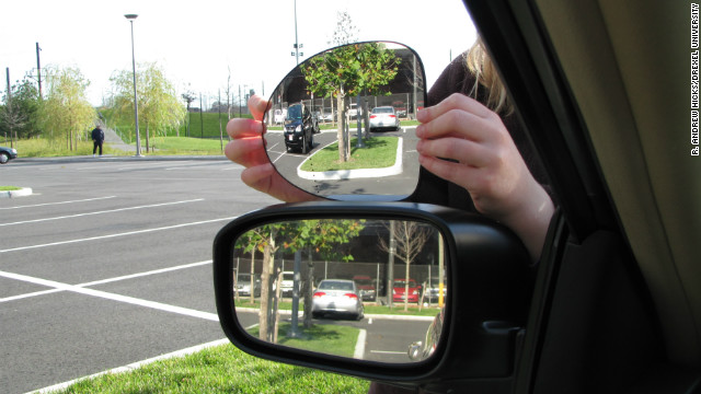 Disco ball-inspired mirror gets rid of driver's blind spot