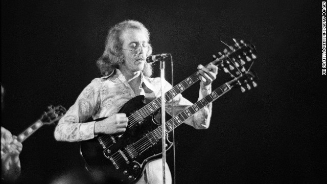 American Bob Welch plays at Sundown in 1972. Welch joined the band in 1971 before launching a solo career. On June 7, Welch died of a self-inflicted gunshot wound to his chest. He was 66.