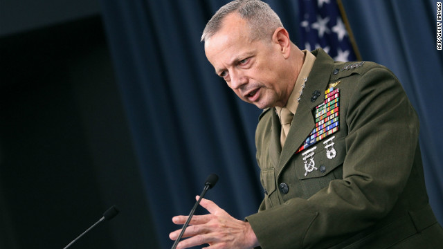ISAF Commander Gen. John Allen paid his condolences to survivors of victims in Logar province Friday.