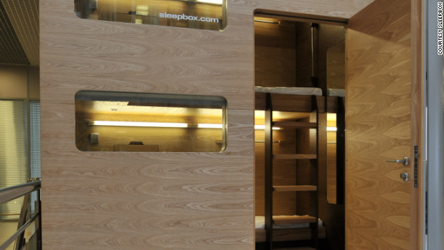 The Russian-designed Sleepbox is currently on display as a demonstration model in Moscow's Sheremetyevo Airport.