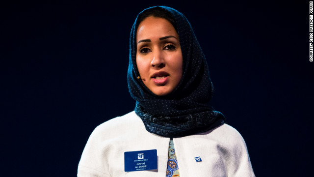Manal al-Sharif, honored for