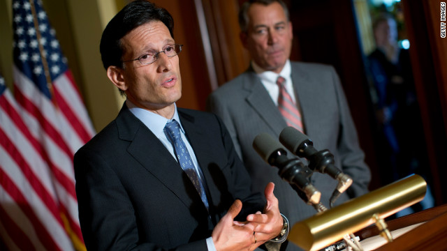 House Majority Leader Eric Cantor, left, and Speaker John Boehner push back on claims of congressional inaction.