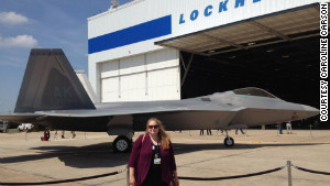 Caroline Carson attends a Lockheed Martin event to mark delivery of the final F-22 Raptor to the U.S. Air Force.