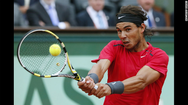 Nadal returns to Djokovic, who is ranked No. 1 in the world.