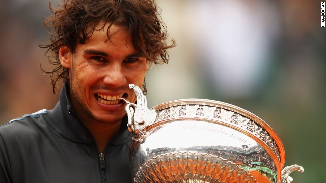 Nadal lifted the Coupe des Mousquetaires trophy for the seventh time in eight years at a tournament where he has lost only once in 53 matches.