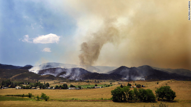 The High Park Fire -- about 15 miles west of Fort Collins -- doubled in size overnight to 36,930 acres, or more than 57 square miles, authorities said Monday.