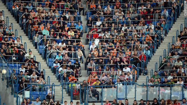 Fans of the Netherlands attended an open training session in Krakow last week.