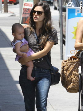 Rachel Bilson carries her friend's baby while roaming around Los Feliz.