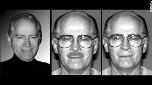 An FBI handout shows various images of Bulger, who became one of America's most wanted men after fleeing in 1995 before an impending indictment on racketeering charges.