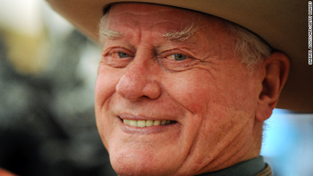 Actor Larry Hagman played the original handsome arch-villain J.R. Ewing on the prime-time soap 