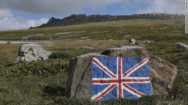 On the way to Darwin on January 24, 2012 in Port Stanley, Falklands Islands