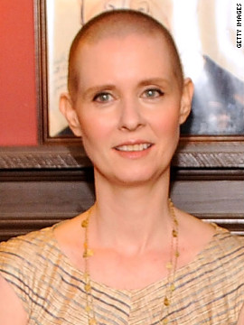 "Cynthia Nixon shaved her head to star in the Broadway production of ""Wit."" Nixon was nominated for a Tony Award for<a href='http://piersmorgan.blogs.cnn.com/2012/05/07/clips-from-friday-cynthia-nixon-on-her-tony-nominated-role-in-wit-jennifer-love-hewitt-on-her-racy-billboard-ad/' target='_blank'> her performance</a> as cancer patient Vivian."