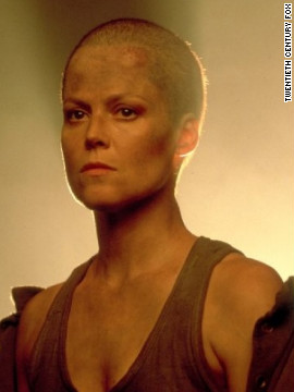 "Sigourney Weaver sported a shaved head when she reprised her role as Ellen Ripley in 1992's ""Alien 3."""