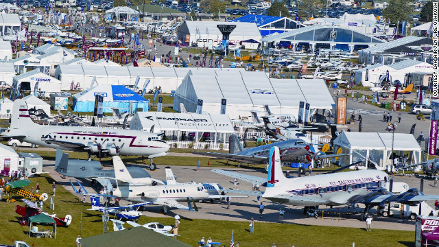 Drawing more than a half-million visitors each year, the world-famous Oshkosh, Wisconsin, airshow sounds like Woodstock for aviation geeks. Except more organized and louder.