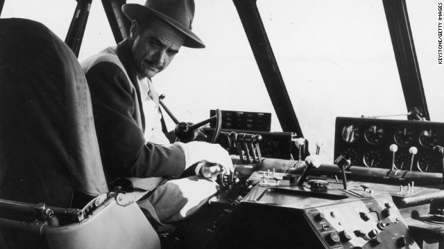 This photo shows billionaire businessman and aviator Howard Hughes in the aircraft's cockpit on the actual day of its only flight -- November 2, 1947. Hughes was at the controls off Long Beach, California, when the giant plane flew for one minute a distance of a little more than one mile at an altitude of 70 feet, according to the museum.