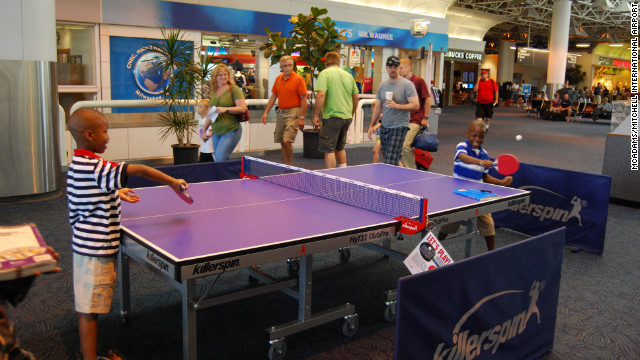 It¹s game on at Milwaukee's Mitchell Airport, where a ping pong table installed last summer as part of a special event has been so popular that they decided to make it a permanent fixture.<br/><br/> <br/><br/>
