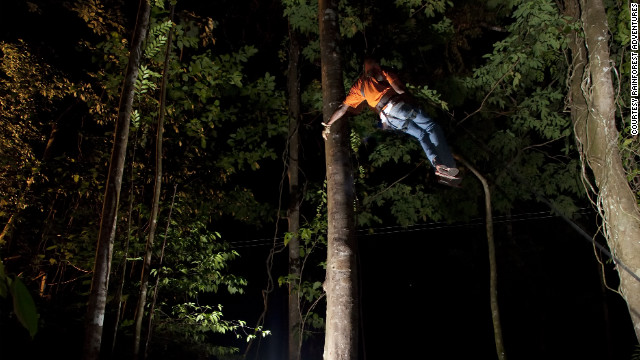 Zip lines have become a common feature of the Caribbean, but newcomer AdrenaLUNA provides the special treat of exploring a rainforest by night.