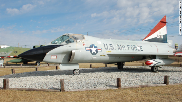 This rare, two-seat TF-102A Delta Dagger was flown by a young George W. Bush, <a href='http://www.grissomairmuseum.com/?page_id=139' target='_blank'>according to Grissom Air Museum</a>. This model could reach a top speed of 646 mph -- just under the speed of sound.