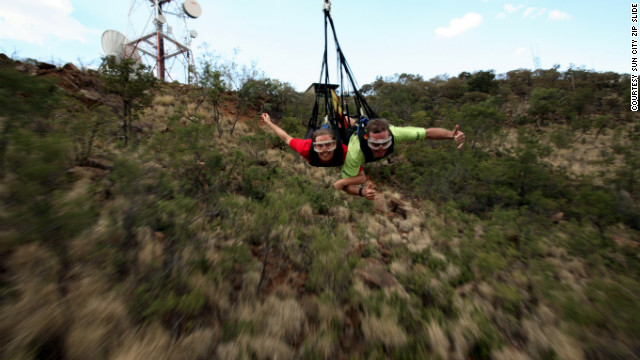 If you want bragging rights, drive two hours from Johannesburg to the Sun City entertainment complex to conquer the world's longest zip line: roughly 1.2 miles of uninterrupted thrills.