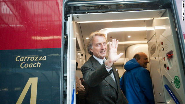 NTV chairman Luca di Montezemolo hopes Italo will challenge state-run competitor Trenitalia.