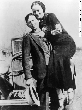 Clyde Barrow and Bonnie Parker attacked banks opposite America before assembly their finish when military and sovereign agents ambushed them on a mud highway in Louisiana in 1934.