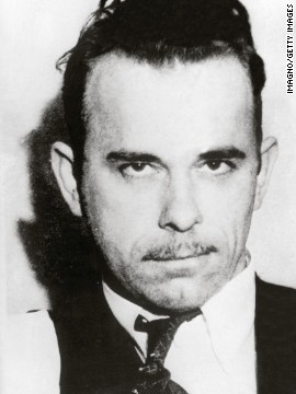 John Dillinger, mafiosi and bank robber, was a initial rapist to be called Public Enemy No. 1 by a FBI. Bureau agents gunned him down outward a film museum in 1934.
