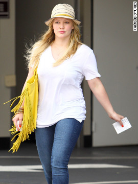 Hilary Duff goes shopping in Beverly Hills.