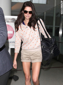 Ashley Greene arrives at Los Angeles.