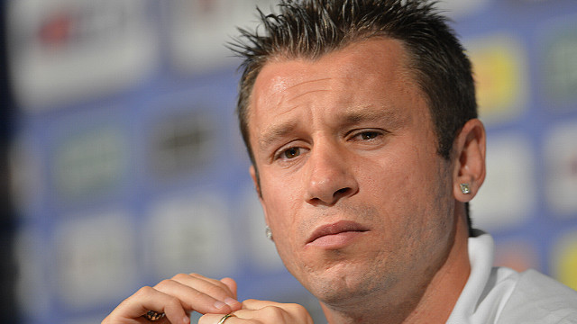 Italy forward Antonio Cassano during a Euro 2012 press conference in Krakow