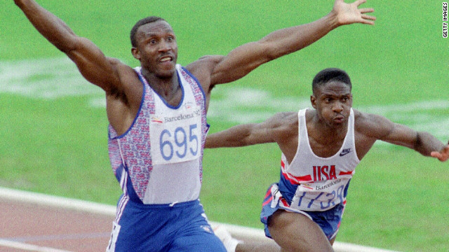 Jamaica-born Linford Christie claimed gold for Britain in the 100m at the 1992 Barcelona Olympics.