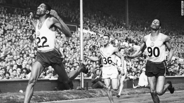 Jamaica has a strong running tradition. Here Arthur Wint pips compatriot Herb McKenley to win gold over 400m at the 1948 London Olympics.