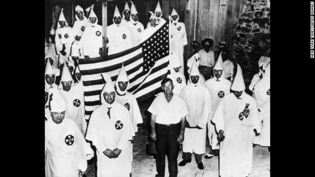A group of 58 Ku Klux Klan members marched through Pell City, Alabama, in 1949 with their faces uncovered, in accordance with a new state law.