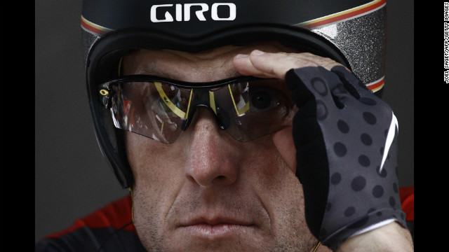 Ahead of what he said would be his last Tour de France, Armstrong gears up for the start of the race in 2010.