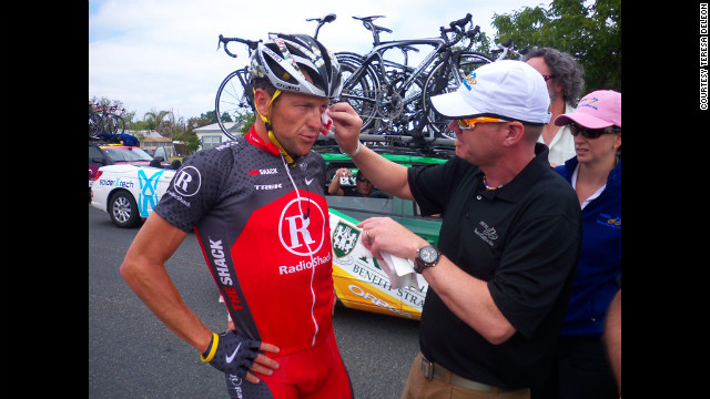 In May 2010, Armstrong crashes during the Amgen Tour of California and is taken to the hospital. That same day, he denied allegations of doping made by former teammate Floyd Landis.