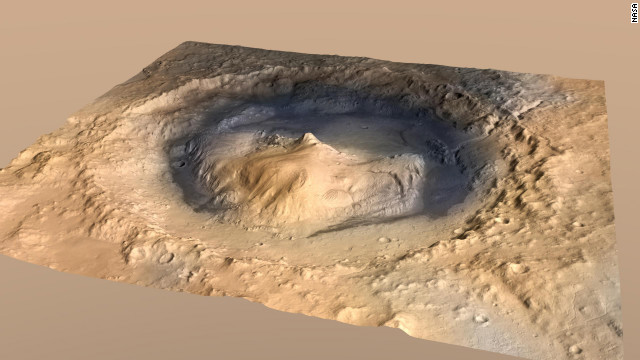 Rover bound for intriguing crater on Mars