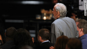Former mobster Henry Hill (standing) appears in the audience during a TV show in Los Angeles in 2010.