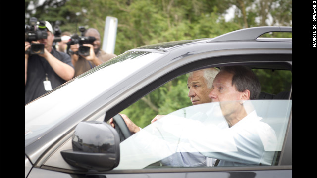 Every day Sandusky arrived in the passenger seat of his attorney Joe Amendola's black BMW SUV.