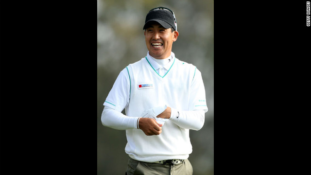 J.B. Park of South Korea walks off the second tee during the first round.