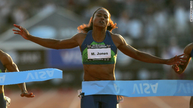 Olympic track star Marion Jones was sentenced to six months in prison in 2008 for lying to federal prosecutors investigating the use of performance-enhancing substances.