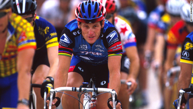 Lance Armstrong rides for charity in May 1998 to benefit the organization he founded, the Lance Armstrong Foundation.