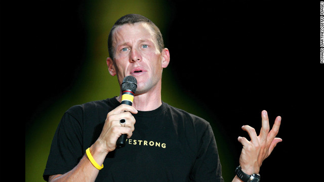 After his six consecutive Tour de France win in 2004, Armstrong attends a celebration in his honor in front of the Texas State Capitol in Austin.