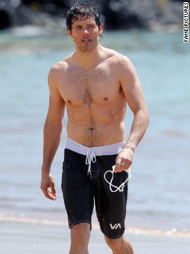 James Marsden spends time at a beach in Maui.