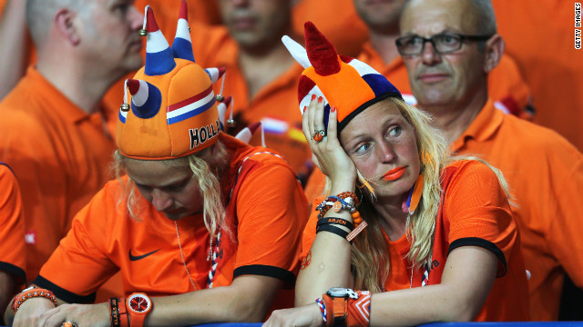 The Dutch fans have had little to cheer about following their team's opening 1-0 defeat against Denmark.