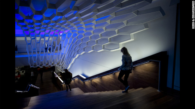 The company remodeled an area of basement conference rooms into the &quot;WorkCafe.&quot;