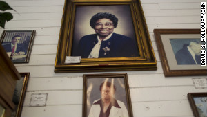 Community members who worked to save the Noble Hill school are memorialized inside the museum.