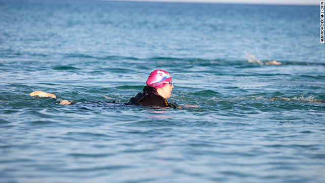 Triathlete's first venture into murky water