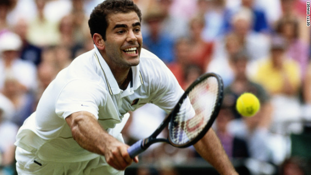 Sampras' powerful serve and volley game earned him seven titles in eight years at the grass-court grand slam.